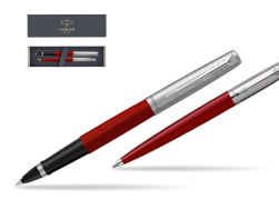 Parker Jotter Originals Red CT T2016 Rollerball Pen + Ballpoint Pen in a Gift Box