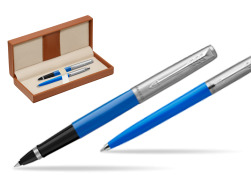 Parker Jotter Originals Blue CT T2016 Rollerball Pen + Ballpoint Pen in a Gift Box  in classic box brown