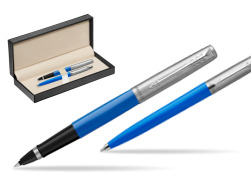 Parker Jotter Originals Blue CT T2016 Rollerball Pen + Ballpoint Pen in a Gift Box  in classic box  pure black