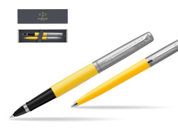 Parker Jotter Originals Yellow CT T2016 Rollerball Pen + Ballpoint Pen in a Gift Box