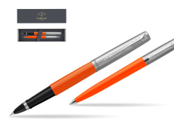 Parker Jotter Originals Orange CT T2016 Rollerball Pen + Ballpoint Pen in a Gift Box