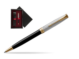 Parker Sonnet Fougère & Black GT Ballpoint Pen  single wooden box  Black Single Maroon