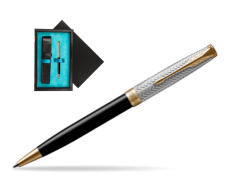 Parker Sonnet Fougère & Black GT Ballpoint Pen  single wooden box  Black Single Turquoise