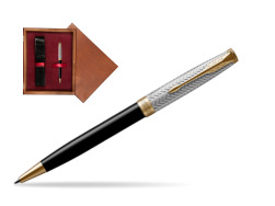 Parker Sonnet Fougère & Black GT Ballpoint Pen  single wooden box Mahogany Single Maroon