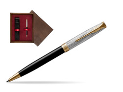Parker Sonnet Fougère & Black GT Ballpoint Pen  single wooden box  Wenge Single Maroon
