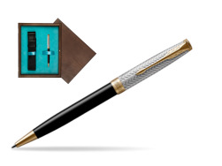 Parker Sonnet Fougère & Black GT Ballpoint Pen  single wooden box  Wenge Single Turquoise