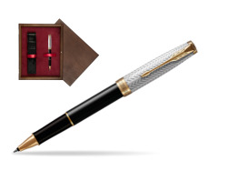 Parker Sonnet Fougère & Black GT  Rollerball Pen  single wooden box  Wenge Single Maroon