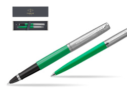 Parker Jotter Originals Green CT T2016 Rollerball Pen + Ballpoint Pen in a Gift Box