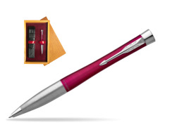 Parker Urban Twist Magenta CT Ballpoint Pen  single wooden box Honey Single Maroon
