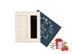 Christmas gift box navy blue