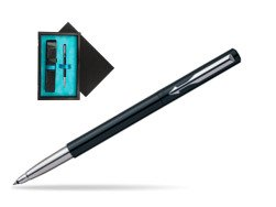 Parker Vector Standard Black Rollerball Pen  single wooden box  Black Single Turquoise