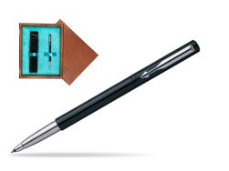 Parker Vector Standard Black Rollerball Pen  single wooden box  Mahogany Single Turquoise