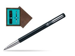 Parker Vector Standard Black Rollerball Pen  single wooden box  Wenge Single Turquoise