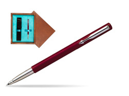 Parker Vector Standard Red Rollerball Pen  single wooden box  Mahogany Single Turquoise