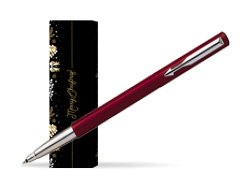 Parker Vector Standard Red Rollerball Pen in cover Golden Tree