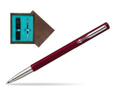 Parker Vector Standard Red Rollerball Pen  single wooden box  Wenge Single Turquoise