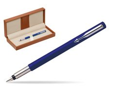 Parker Vector Standard Blue Fountain Pen  in classic box brown