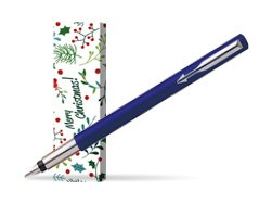 Parker Vector Standard Blue Fountain Pen in cover Merry Mistletoe