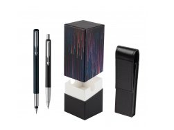 Parker Vector Standard Black Fountain Pen + Parker Vector Standard Black Ballpoint Pen in a Gift Box  StandUP Crazy line