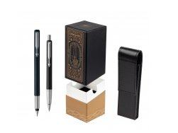 Parker Vector Standard Black Fountain Pen + Parker Vector Standard Black Ballpoint Pen in a Gift Box  StandUP For Men Only
