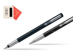 "Parker Vector Standard Black Fountain Pen + Parker Vector Standard Black Ballpoint Pen in a Gift Box  ""Red Love"""