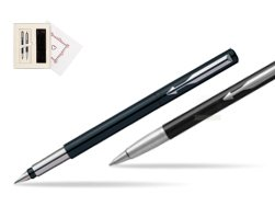 "Parker Vector Standard Black Fountain Pen + Parker Vector Standard Black Ballpoint Pen in a Gift Box  ""Pure Love"""