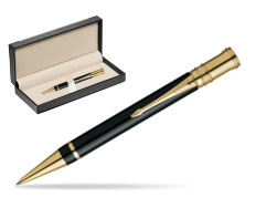Parker Duofold Black Resin GT Ballpoint Pen  in classic box  black