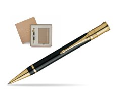 Parker Duofold Black Resin GT Ballpoint Pen in a Gift Box