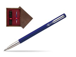 Parker Vector Standard Blue Rollerball Pen  single wooden box  Wenge Single Maroon