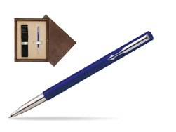 Parker Vector Standard Blue Rollerball Pen  single wooden box  Wenge Single Ecru