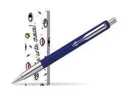 Parker Vector Standard Blue Ballpoint Pen in cover The write choice