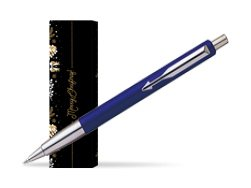 Parker Vector Standard Blue Ballpoint Pen in cover Golden Tree