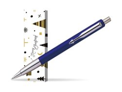 Parker Vector Standard Blue Ballpoint Pen in cover Snow Gift