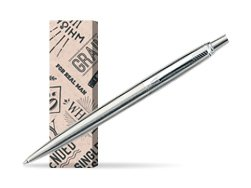 Parker Jotter Stainless Steel CT Ballpoint Pen in cover For real man