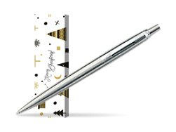 Parker Jotter Stainless Steel CT Ballpoint Pen in cover Snow Gift