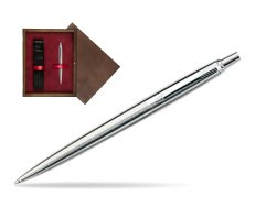 Parker Jotter Stainless Steel CT Ballpoint Pen in single wooden box  Wenge Single Maroon