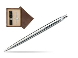 Parker Jotter Stainless Steel CT Ballpoint Pen in single wooden box  Wenge Single Ecru