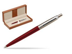 Parker Jotter Special Red Ballpoint Pen  in classic box brown