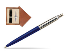 Parker Jotter Special Blue Ballpoint Pen  single wooden box  Mahogany Single Ecru