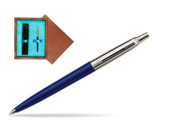 Parker Jotter Special Blue Ballpoint Pen  single wooden box  Mahogany Single Turquoise
