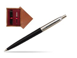 Parker Jotter Special Black Ballpoint Pen  single wooden box Mahogany Single Maroon