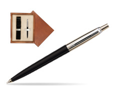 Parker Jotter Special Black Ballpoint Pen  single wooden box  Mahogany Single Ecru