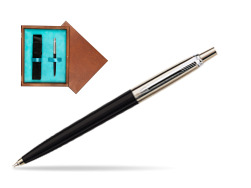 Parker Jotter Special Black Ballpoint Pen  single wooden box  Mahogany Single Turquoise