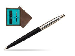 Parker Jotter Special Black Ballpoint Pen  single wooden box  Wenge Single Turquoise