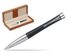 Parker Urban Classic Muted Black Lacquer CT Ballpoint Pen  in classic box brown
