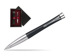 Parker Urban Classic Muted Black Lacquer CT Ballpoint Pen  single wooden box  Black Single Maroon