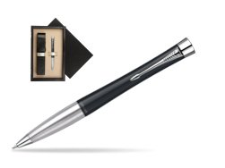 Parker Urban Classic Muted Black Lacquer CT Ballpoint Pen  single wooden box  Wenge Single Ecru