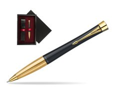 Parker Urban Classic Muted Black Lacquer GT Ballpoint Pen  single wooden box  Black Single Maroon