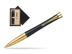 Parker Urban Classic Muted Black Lacquer GT Ballpoint Pen  single wooden box  Wenge Single Ecru