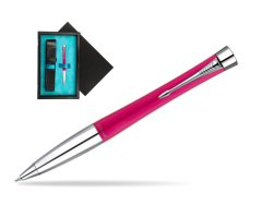 Parker Urban Fashion Cool Magenta Lacquer CT Ballpoint Pen  single wooden box  Black Single Turquoise